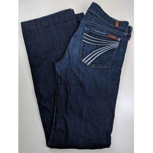 Women's 7 for all mankind DOJO dark blue jeans 30